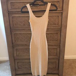 Fashion Nova Beige BodyCon Dress